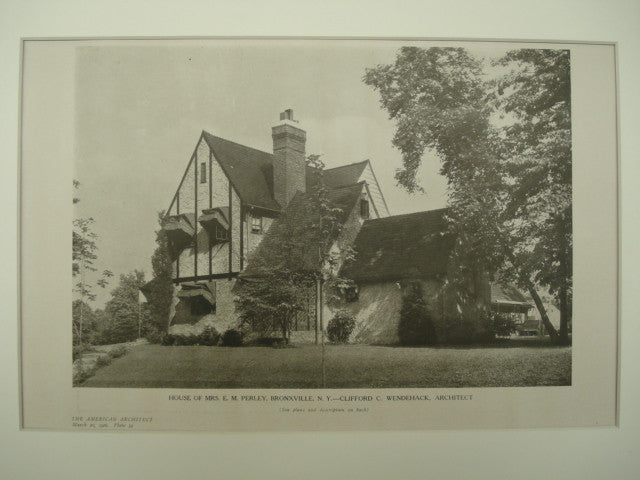 House of Mrs. E. M. Perley , Bronxville, NY, 1926, Clifford C. Wendehack