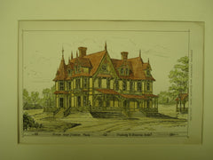 House near Boston, Boston, MA, 1876, Peabody & Stearns