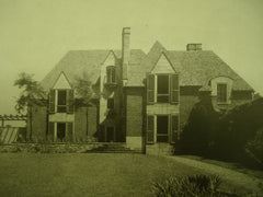 House and Garden of Carl E. Siebecker , Bethlehem, PA, 1926, Mellor, Meigs & Howe