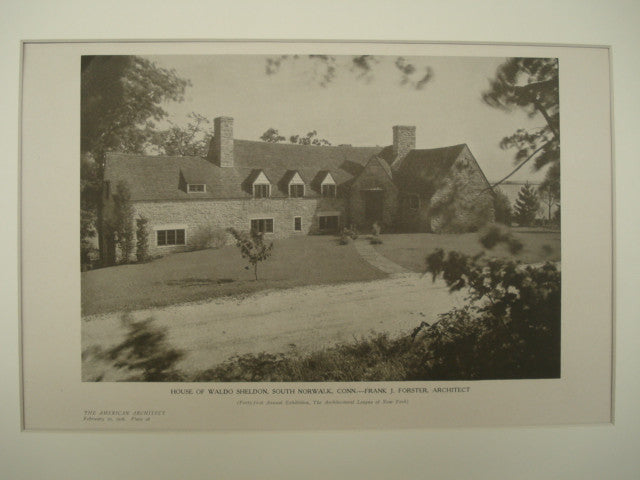 House of Waldo Sheldon , South Norwalk, CT, 1926, Frank J. Forster