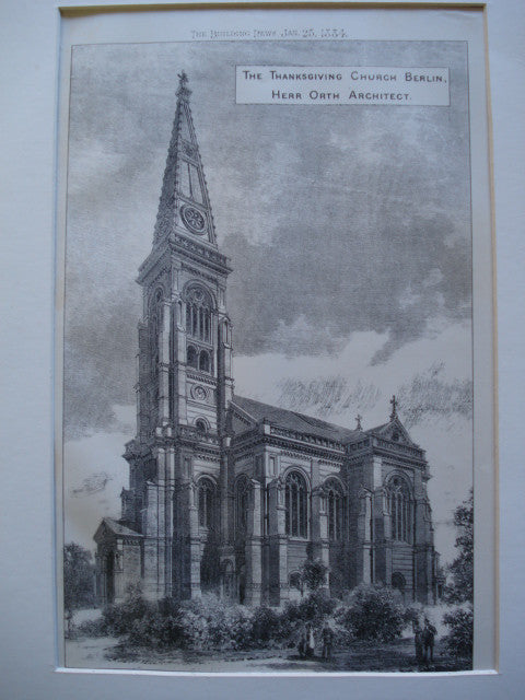 Thanksgiving Church , Berlin, Germany, EUR, 1884, Herr Orth