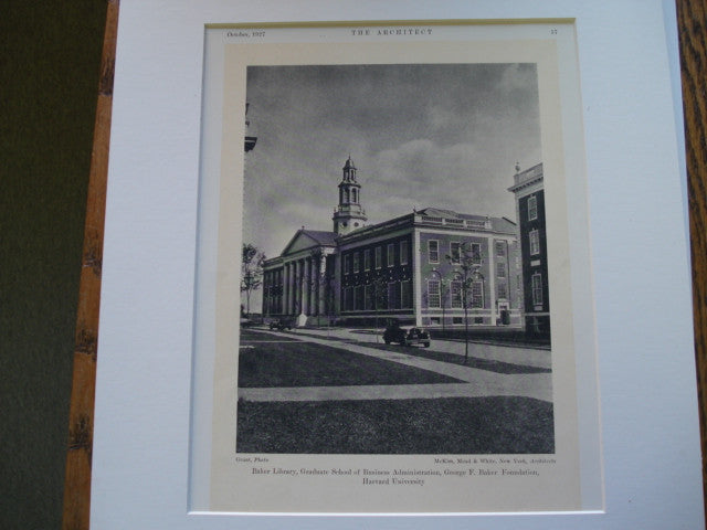 Baker Library, Harvard University, Cambridge, MA, 1927, McKim, Mead and White