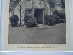 Main Entrance, William H. Whitcomb House, Plainfield, NJ, 1926, Patterson and Willcox