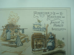 Fireside and Kitchen of Ancient and Modern Times of the Barstow Stove Co., London, England, UK, 1886, Unknown