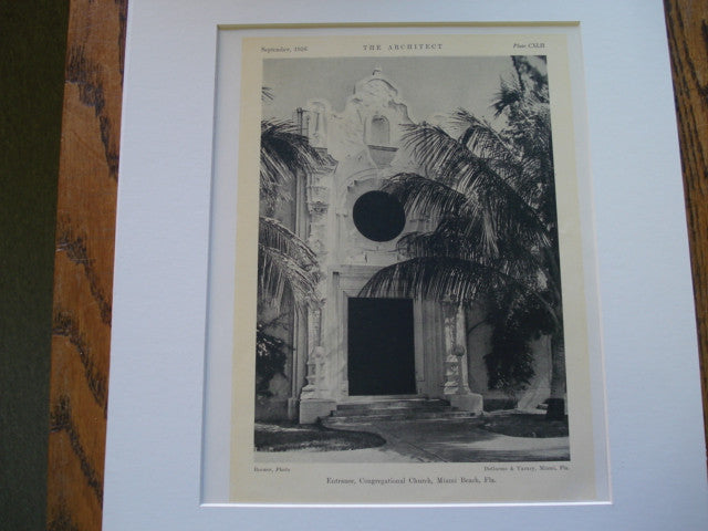 Congregational Church , Miami Beach, FL, 1926, DeGarmo and Varney