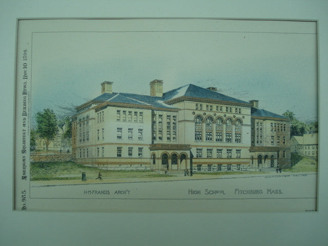 High School , Fitchburg, MA, 1894, H. M. Francis