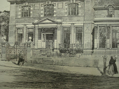 Lothians, the Residence and Studio of John Pettie, Esq., Hampstead, London, England, UK, 1881, W. Wallace and W. Flockhart