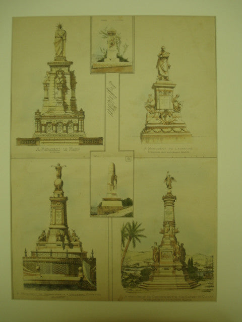 Statues Made to Commemorate the Battles Around Paris, Paris, France, EUR, 1900, Unknown