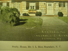 House of Mr. I. L. Rice , Scarsdale, NY, 1926, Patterson & Willcox