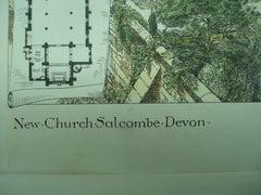 New Church, Salcombe, Devon, England, UK, 1880, J. D. Sedding