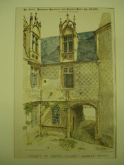 Court of Hotel Cujas , Bourges, France, EUR, 1895, Unknown