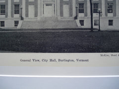 City Hall , Burlington, VT, 1930, McKim , Mead and White