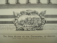 High Altar of the Cathedral of Arezzo , Arezzo, Tuscany, Italy, EUR, 1884, Unknown