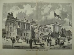 New Parliament House, Vienna, Austria, EUR, 1884, Unknown