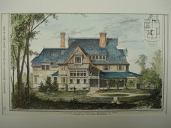 House of Mr. Pierce , Brookline, MA, 1878, Messrs. G. R. & R. G. Shaw