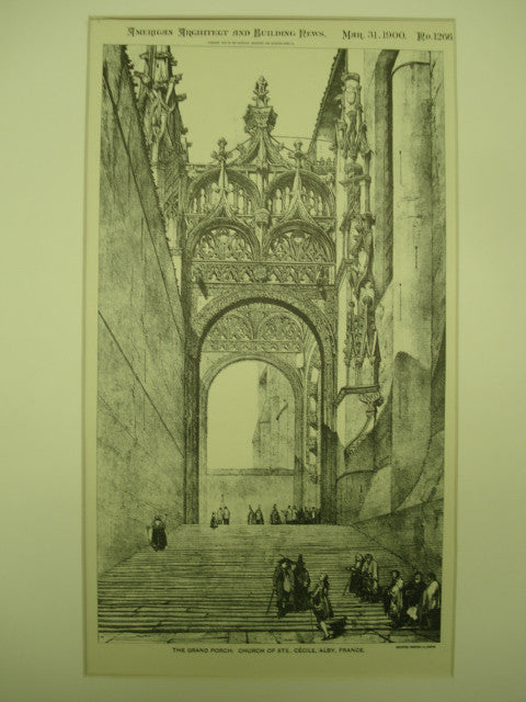 Grand Porch of the Church of St. Celine , Alby, France, EUR, 1900, Not Stated