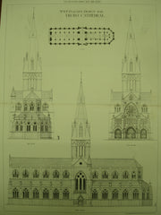 Design for the Truro Cathedral , Truro, Cornwall, England, UK, 1880, R. P. Pullan