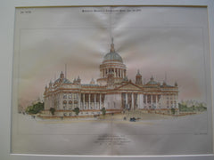 Alternative Design for Minnesota Capitol, Submitted in the First Competition , St. Paul, MN, 1895, W.B. Dunnell