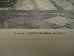Choir of the Church of St. Cecile, Alby, France, EUR, 1900, Not Stated