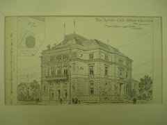 Artists' Club House , Dresden, Saxony, Germany, EUR, 1881, Messrs. Eltzner & Hauschild