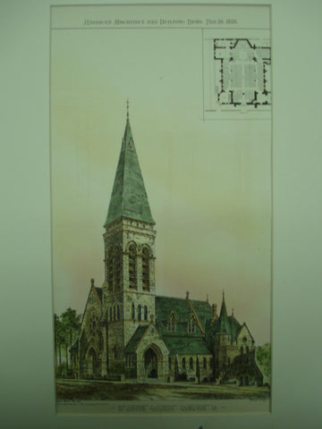 St. John's Church , Dubuque, IA, 1878, Henry M. Congdom