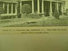 House of J. C. Hoagland, Esq. , Seabright, NJ, 1895, Shepley, Rutan, & Coolidge