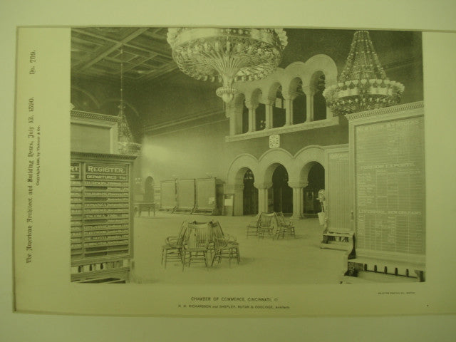 Chamber of Commerce , Cincinnati, OH, 1890, H. H. Richardson and Shepley, Rutan & Coolidge