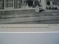 East Oakland High School, East Oakland, CA, 1930, Miller and Warnecke