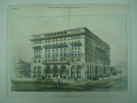 Hotel and Office Building , Toronto, Ontario, CAN, 1893, Ellingwood & Parish