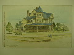 Residence of Charles G. Downs , Bridgeport, CT, 1887, Joseph W. Northrop
