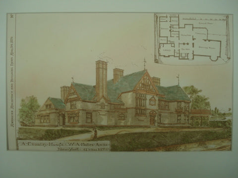 A Country House , New York, NY, 1879, W. A. Bates