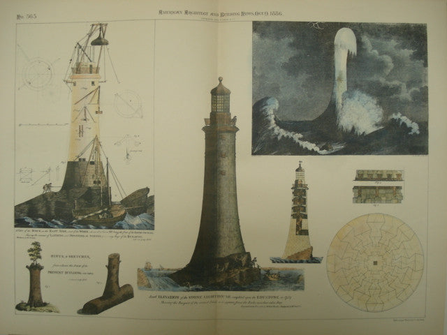 South Elevation of the Edystone Lighthouse, 1886, Unknown