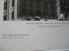 Arsenal Building, Seventh Avenue, New York, NY, 1926, Buchman & Kahn