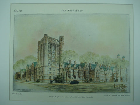 Bingham Dormitory, Yale University , New Haven, CT, 1926, Walter B. Chambers