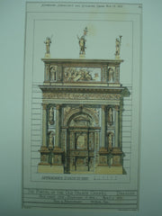 Portal of the Old Palace Chapel Portal, Dresden, Germany, EUR, 1877, J. M. Howe