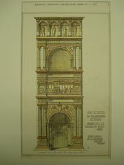 Arch of Triumph in the New Castle, Naples, Italy, EUR, 1877, Giuliano da Maino