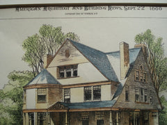 House for Dr. A.G. Curtiss on Elmwood Ave., Buffalo, NY, 1888, E.A. Kent