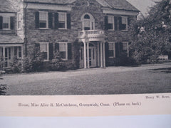 Alice B. McCutcheon House , Greenwich, CT, 1926, Henry W. Rowe