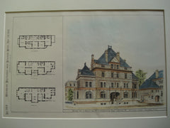 Design for a House for Wm. F. Whitehouse, Esq., Chicago, IL, 1881, Wm. A. Potter