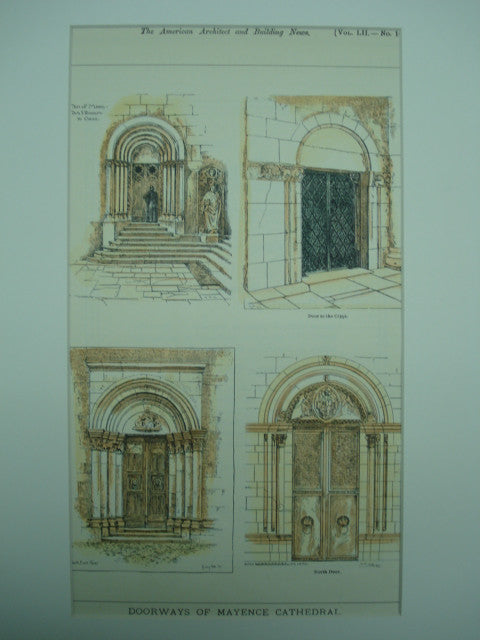 Doorways of Mayence Cathedral , Mainz, Germany, EUR, 1900, Unknown