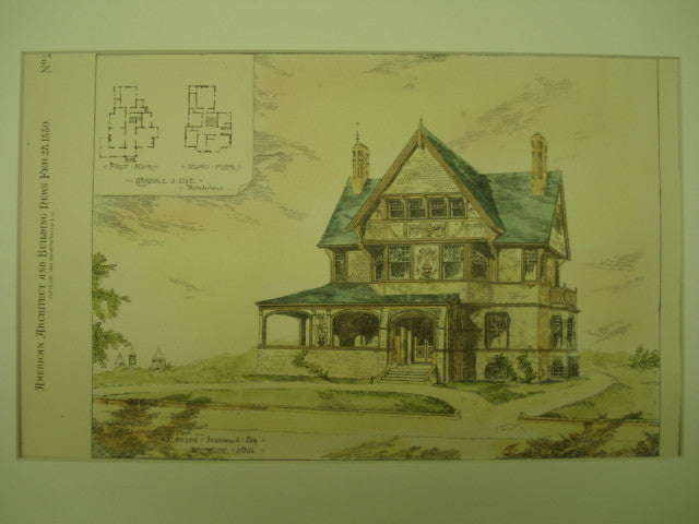 House for Edward Stanwood, Esq., Brookline, MA, 1880, Clarence S. Luce