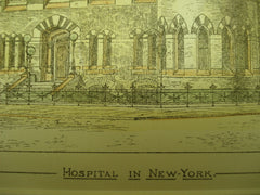 Hospital, New York, NY, 1880, E. T. Potter