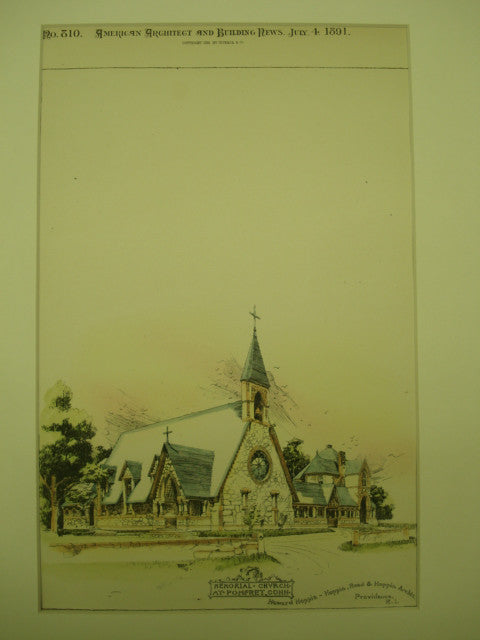 Memorial Church , Pomfret, CT, 1891, Hoppin, Read & Hoppin