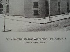 Manhattan Storage Warehouse, New York, NY, 1886, James E. Ware