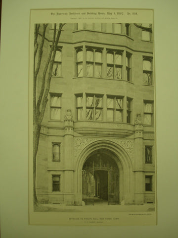 Entrance to Phelps Hall , New Haven , CT, 1897, C. C. Haight