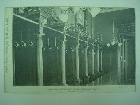 Cloak-Room at the Court House of the Appellate Division , New York, NY, 1900, James Brown Lord