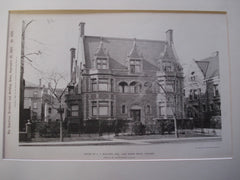 House of A.C. McClurg, Esq., Lake Shore Drive, Chicago, IL, 1897, Francis M. Whitehouse