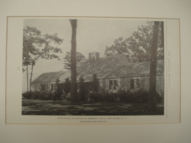 Bath House on the Estate of Marshall Field , Long Island, NY, 1926, John Russell Pope
