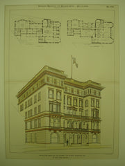 Second Prize Design for the Colombia Club Building , Indianapolis, IN, 1898, W. Albert Sawsey