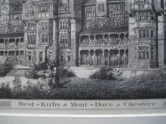 Mont Dore , West Kirby, Cheshire, England, UK, 1884, A. Bedborough & Wheeler & Hollands